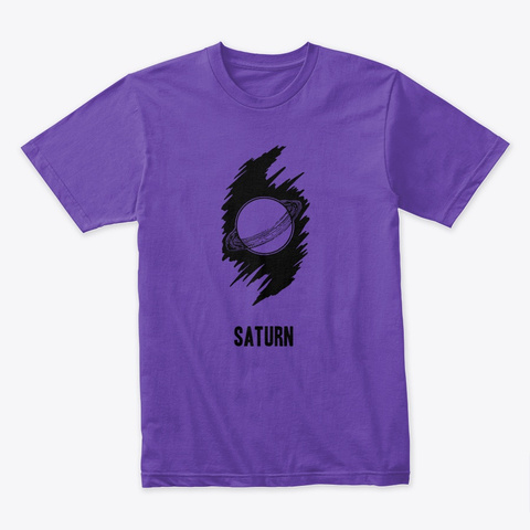 Saturn (Unisex T Shirt) Purple Rush T-Shirt Front