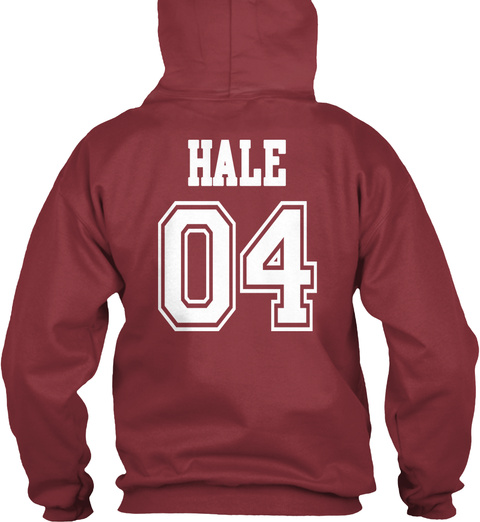 Beacon Hills Hale 04 Hoodie  Maroon T-Shirt Back