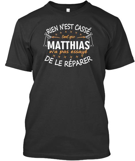 Matthias De Le Réperer Black T-Shirt Front