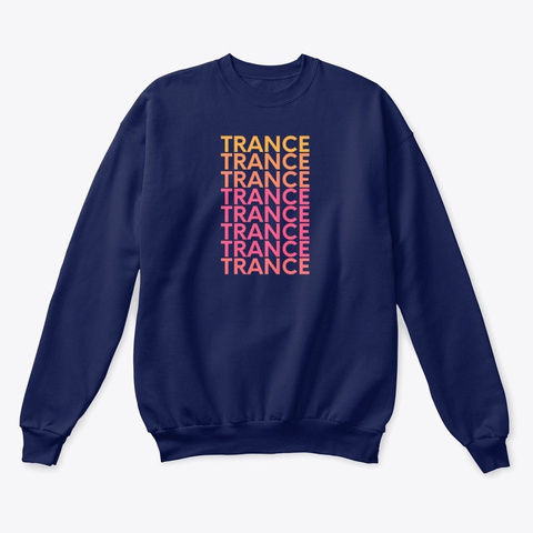 Trance Creamsicle Navy  T-Shirt Front