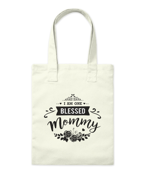 I Am One Blessed Mommy Natural Tote Bag Front