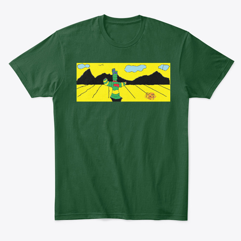 Fear And Loathing In Chile   Desert Art Forest Green  T-Shirt Front