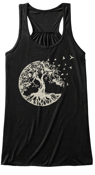 Tree Of Life  Black T-Shirt Front