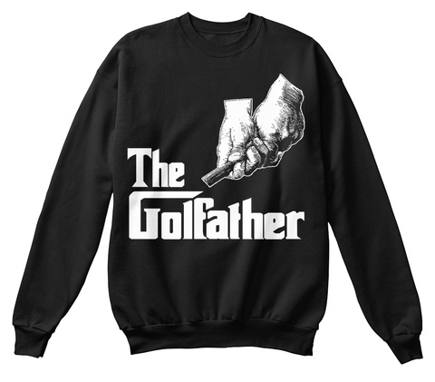 The Golfather Black T-Shirt Front