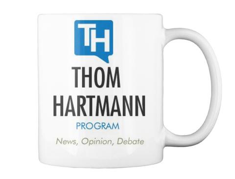 Thom Hartmann Program News Opinion Debate White T-Shirt Back