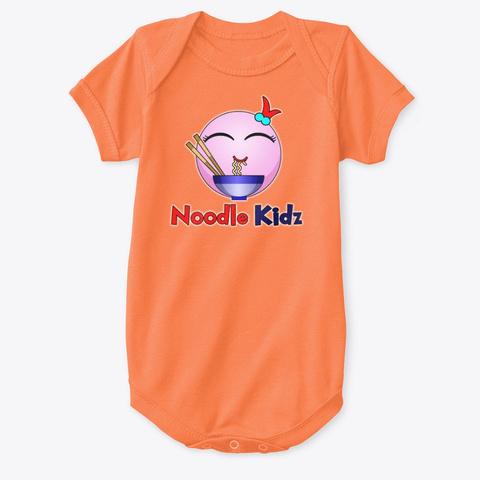 Noodle Kidz Baby Onesie Orange T-Shirt Front