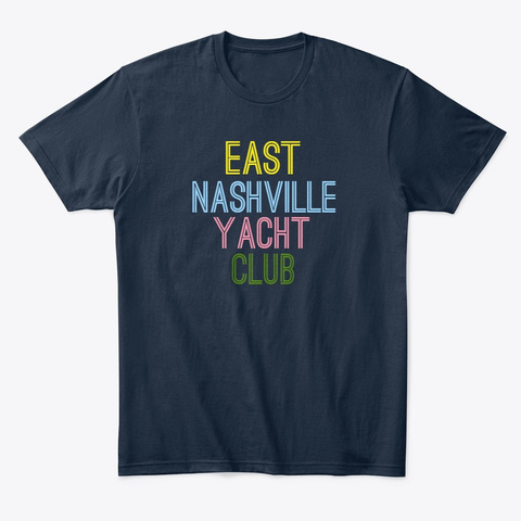 East Nashville Yacht Club  New Navy T-Shirt Front