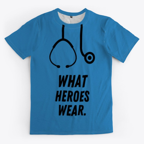 Stethoscope  Heroes Shirt Denim Blue T-Shirt Front