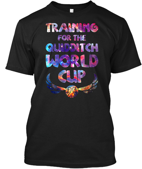 Training For The Quidditch World Cup Black Camiseta Front