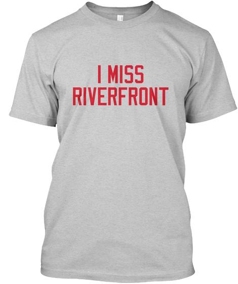 Naming Wrongs: Riverfront (Grey) Light Steel T-Shirt Front