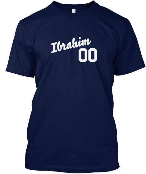 Ibrahim Varsity Legend Navy T-Shirt Front