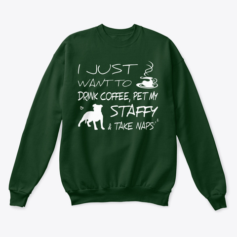 Staffy Funny Gift Tshirt   Dog Lovers Deep Forest  T-Shirt Front