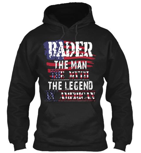 Bader  Black T-Shirt Front