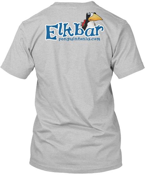 Elkbar Penguintonia.Com Light Heather Grey  T-Shirt Back