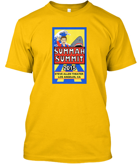 Summah Summit 2015 Gold T-Shirt Front