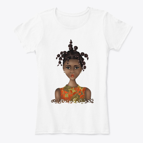 Black Kid Beauty   Dreadlocks Hairstyle White T-Shirt Front