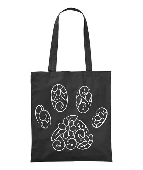 Animal Footprints Black T-Shirt Front