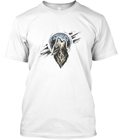 Wolf T Shirts And Tank Tops White T-Shirt Front