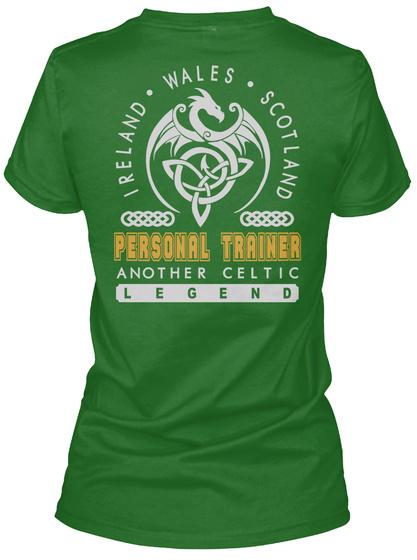 Personal Trainer Legend Patrick's Day T Shirts Irish Green T-Shirt Back