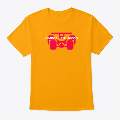 Toy Race Car Gold T-Shirt Front