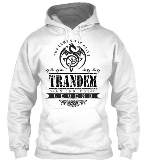 Trandem  White T-Shirt Front