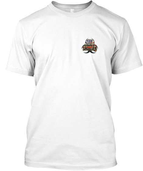 The Daily Shooter White T-Shirt Front