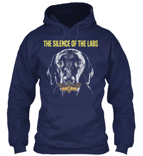 The Silence Of The Labs Navy T-Shirt Front