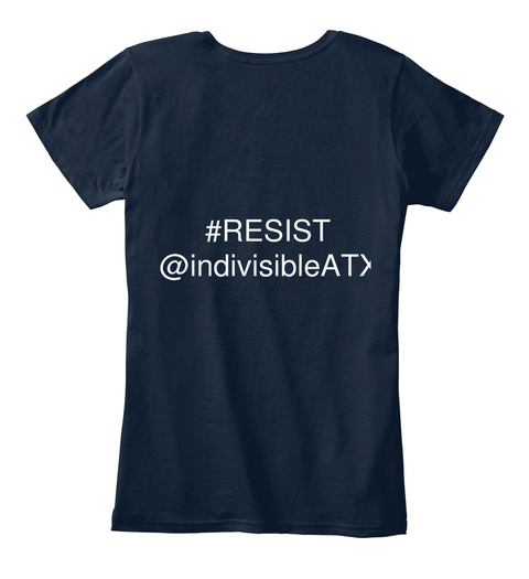 Resist @Indivisiblaat New Navy Women's T-Shirt Back