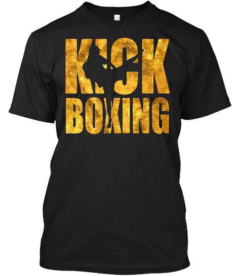 Kick Boxing Black T-Shirt Front