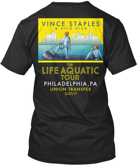 Philadelphia, Pa Black T-Shirt Back