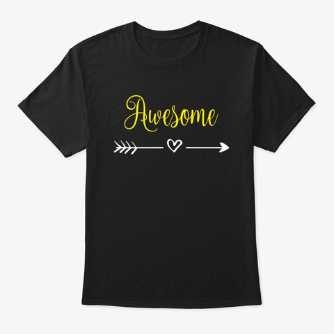 You're Awesome Black T-Shirt Front
