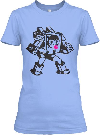 D.Va Meka Cardboard Cosplay Light Blue Women's T-Shirt Front