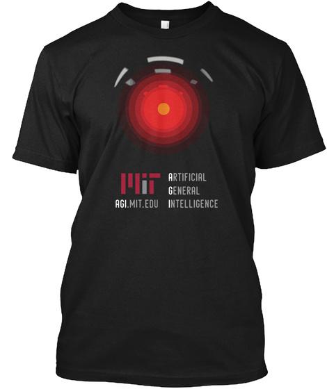 Artificial General Intelligence Agi. Mit. Edu Black T-Shirt Front