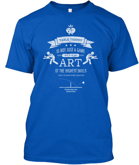 Table Tennis Art Royal Camiseta Front