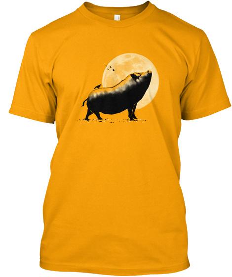 Barking Pig Gold T-Shirt Front