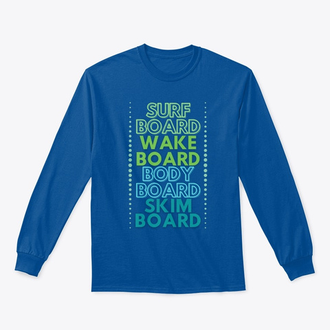 The Board Life Royal T-Shirt Front
