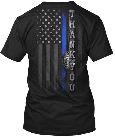 Police: Thank You 2.0 Black áo T-Shirt Back