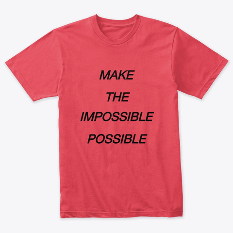 I Am Possible Vintage Red Camiseta Front