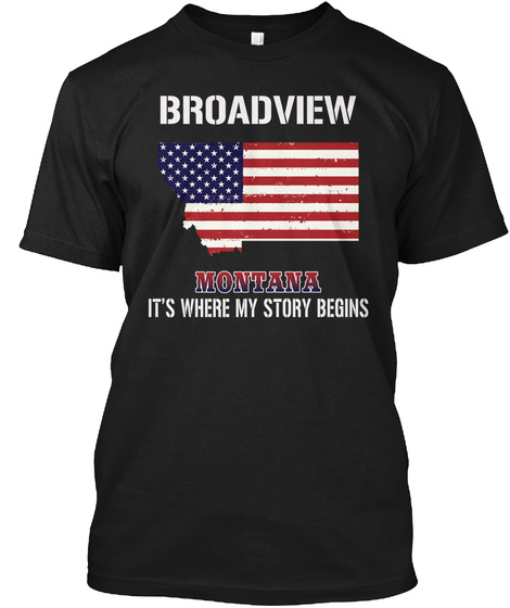 Broadview Mt   Story Begins Black T-Shirt Front