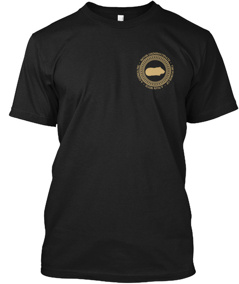 Man With A Guinea Pig Black T-Shirt Front