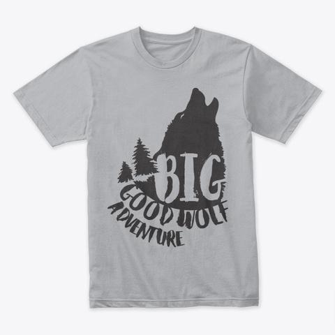 Big Good Wolf Adventure Heather Grey T-Shirt Front