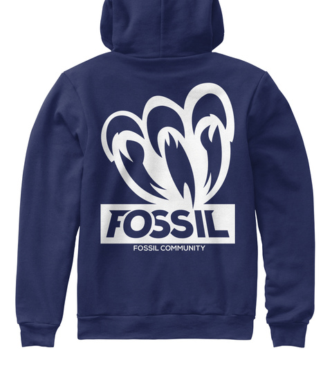 Fossil Fossil Community Navy T-Shirt Back