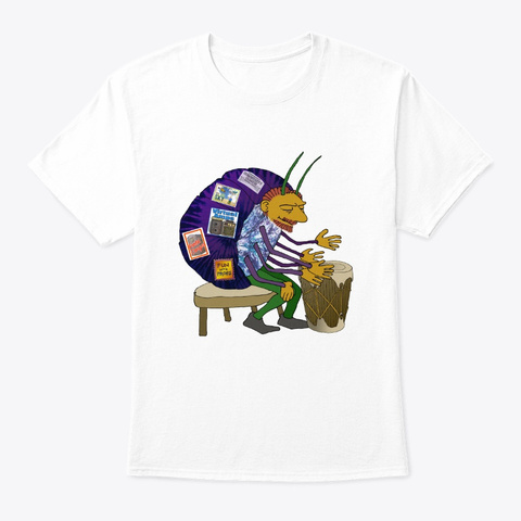 Buggin Out White T-Shirt Front