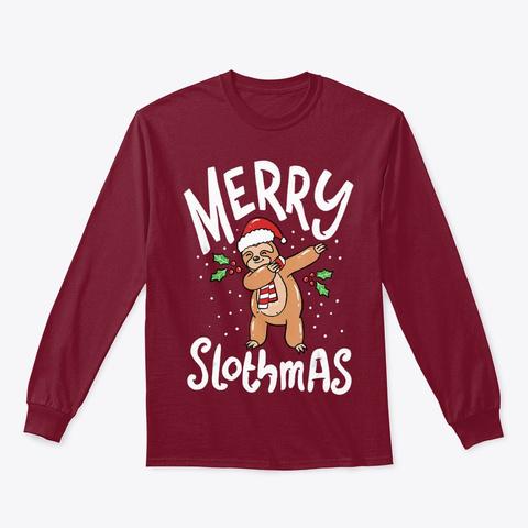 Christmas Slothmas T Shirt Cardinal Red T-Shirt Front
