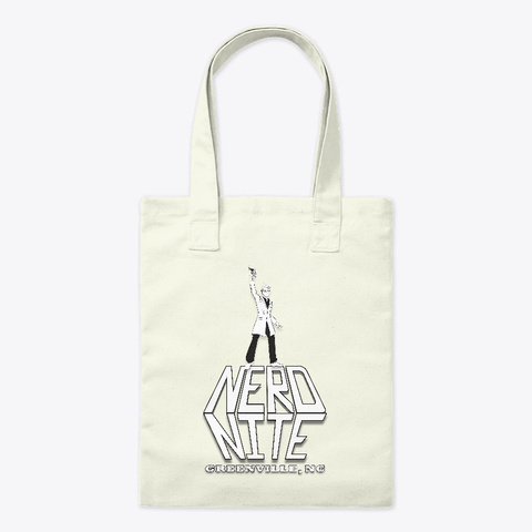 Greenville Nerd Nite Tote Natural T-Shirt Front