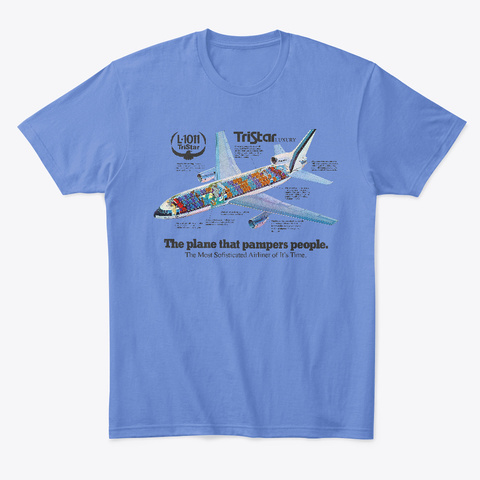 Tristar Cutaway Luxury Airliner Heathered Royal  T-Shirt Front