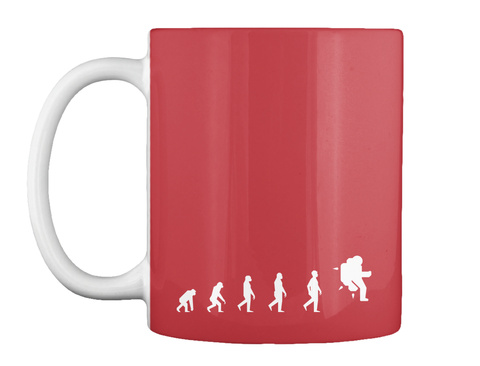 Next Step Astronaut Mug [Usa] #Sfsf Bright Red Mug Front