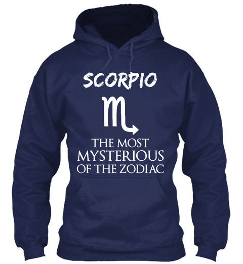 Scorpio The Most Mysterious Of The Zodiac Navy T-Shirt Front