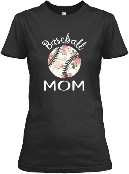 Flower Pattern Baseball Mom Tshirt
