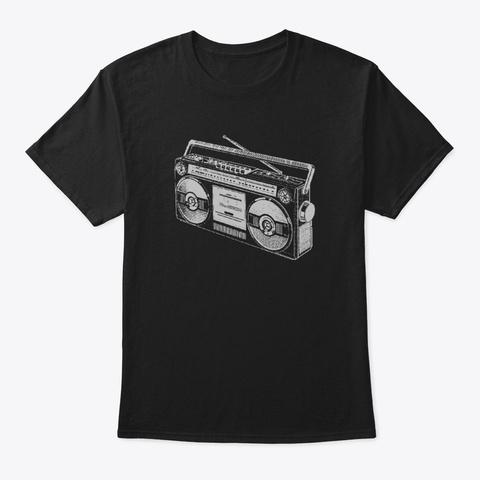 Boombox Black T-Shirt Front